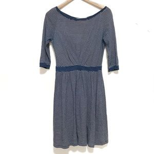 Anthropologie postmark patched racquet dress blue